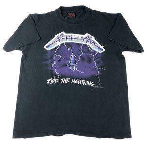 Vintage 1980s Metallica Ride The Lightning T Shirt